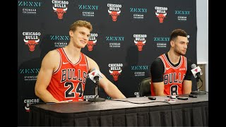 2019-20 Bulls Media Day: Lauri Markkanen and Zach LaVine