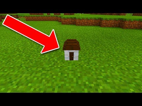 How To Live Inside The World's Smallest House in Minecraft Pocket Edition
