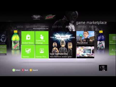 Batman The Dark Knight Rises Free Mountain Dew Xbox 360 Theme