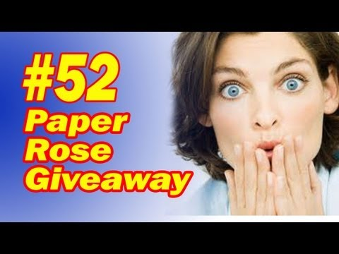 How To Make A Paper Rose For The Origami Magic Trick - Great Magic Giveaway