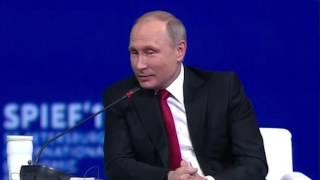 Putin reacts to Trump