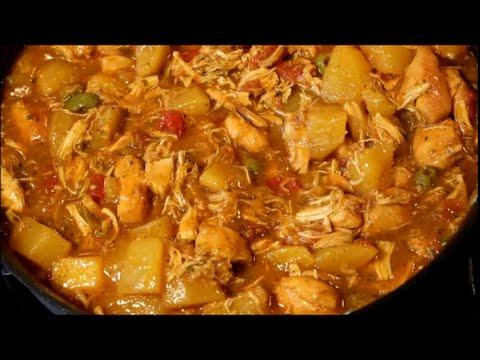 Chicken - How to Make Puerto Rican Stewed Chicken Recipe (Pollo Guisado) [Episode 048]