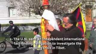 Tibet FLAME OF TRUTH relay: Raising World Awareness,Demanding UN Action.San Francisco, Nov 10th 2012