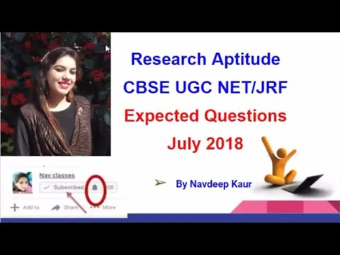 Research Aptitude Expected Question CBSE UGC NET | in Hindi