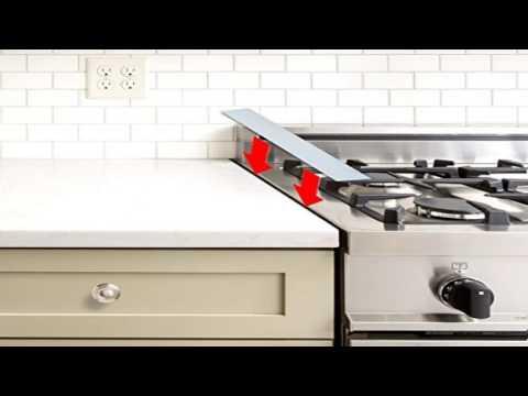 Kohzie Silicone Stove Counter Gap Cover WHITE, Stove Gap, Gap cap for stoves (Set of 2)