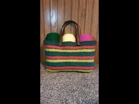 CROCHET How To #Crochet Felted Wool Handbag Purse #TUTORIAL #234 LEARN CROCHET
