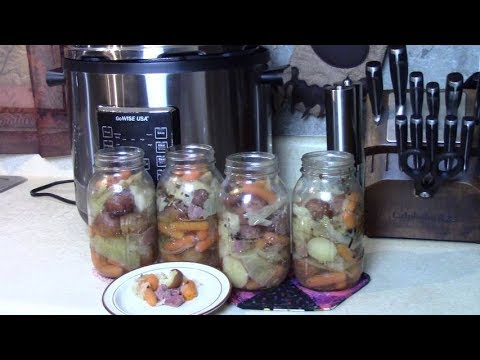 Corned Beef and Cabbage Dinner Jars in Pressure Cooker