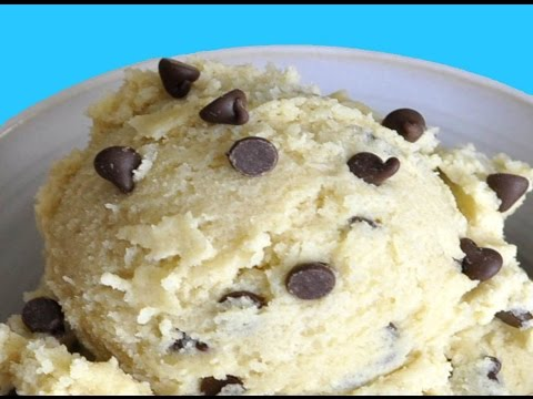Flour less, Butter Free Edible Chocolate Chip Cookie Dough | 30 seconds Video Series