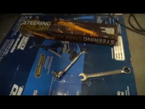 HOW TO INSTALL A STEERING STABILIZER JEEP WRANGLER OLD MAN EMU WITH OUT BRACKET