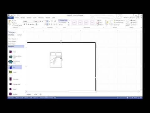 Making a Floorplan in Visio
