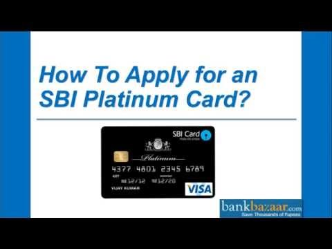 How To Apply for an SBI Platinum Card ?
