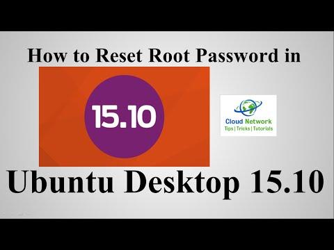 How to Reset Root Password in Ubuntu Desktop 15.10 (Wily Werewolf)