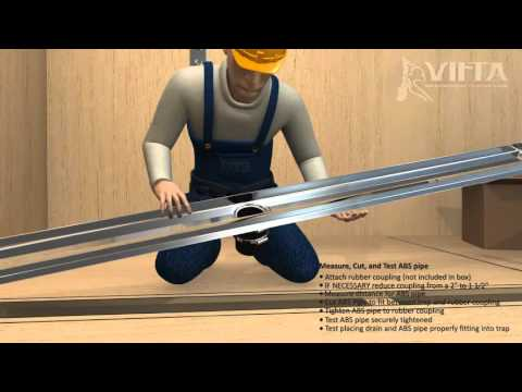 Virta - Linear Drain Installation