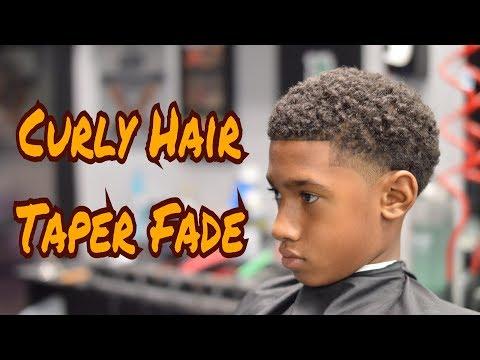 Barber Tutorial | Curly Top | Taper Fade