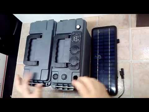 DIY Portable Battery Pack 12V 10A with Solar Panel and LED