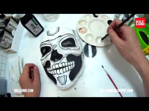 Day of the Dead Mask Painting / Easy Costume DIY How to