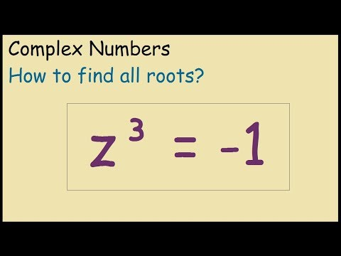 Nth roots of complex numbers how to solve