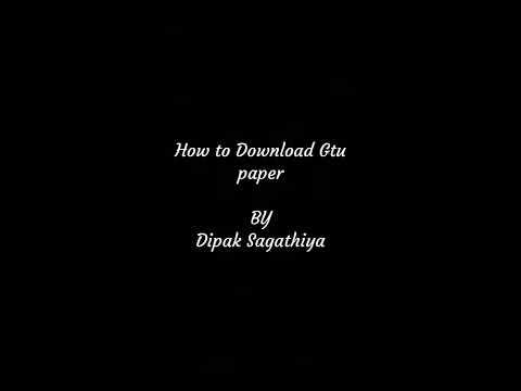 How to Download Gtu Diploma paper