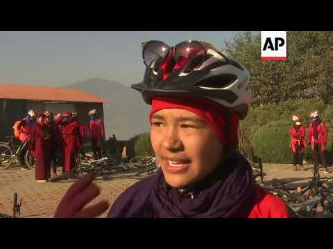 Cycling nuns raise awareness of human trafficking in Nepal and India