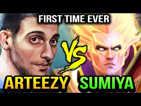 ARTEEZY vs SUMIYA - THE FIRST TIME THEY MET Dota 2
