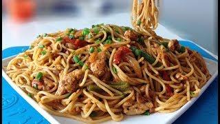 Download Desi Style Spaghetti | Easy Chicken Spaghetti Recipe Video