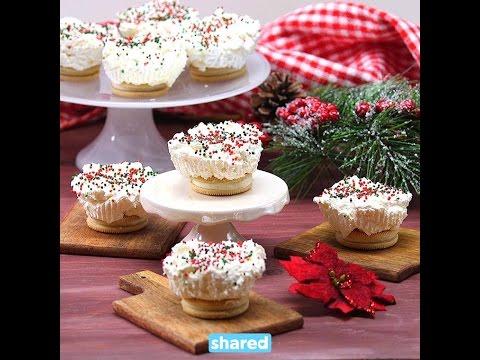 No Bake Holiday Mini Cheesecakes