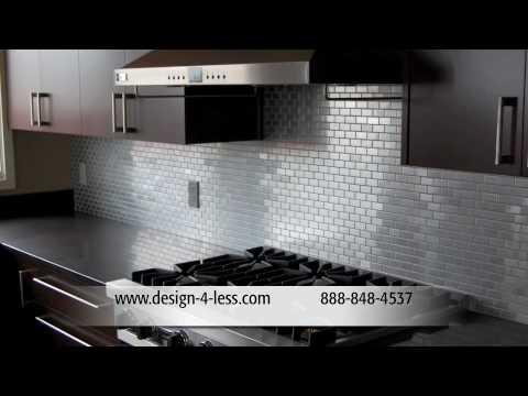 Steel Backsplash Tile Designer Tiles Backsplash Tile Glass Tile Kitchen Backsplashes Design For Less