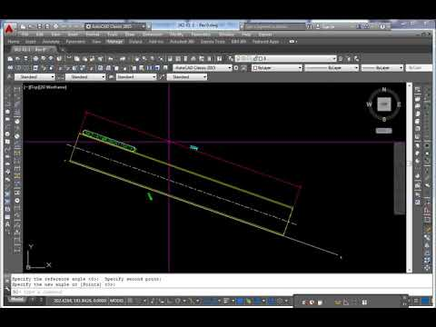Rotate one object to match another unknown angle in AutoCAD