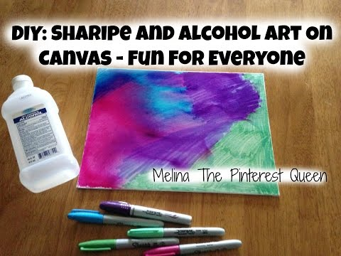 DIY: Sharpie And Alcohol Art On Canvas - Fun For Everyone