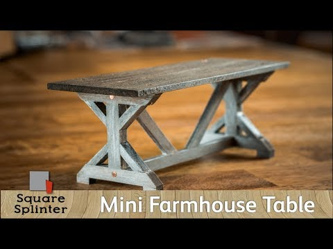 Rustic Farmhouse Table for 6 inch Tall People