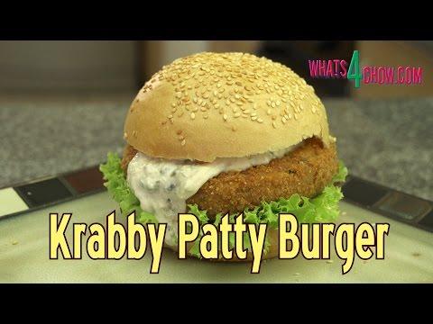 Krabby Patty Burger Recipe - the Sponge Bob Krabby Patty Burger for Human Consumption!!!