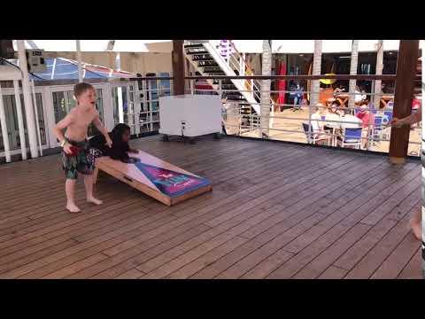 Beanbag toss carnival cruise