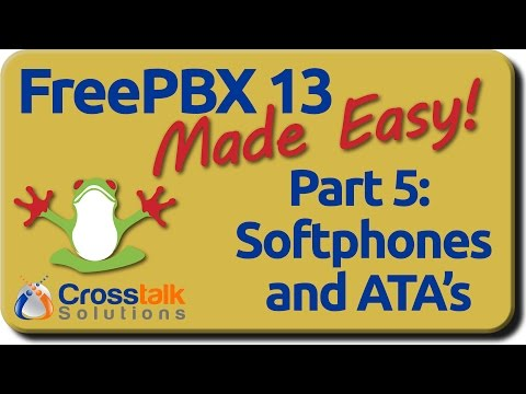FreePBX 13 Made Easy - Part 5 - Softphones and ATA's