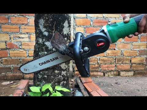 Electric Chain Saw Stand At Home - Awesome Chainsaw Machine | Tutorial