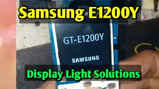 samsung e1200 lcd light solution tricks - PakVim net HD