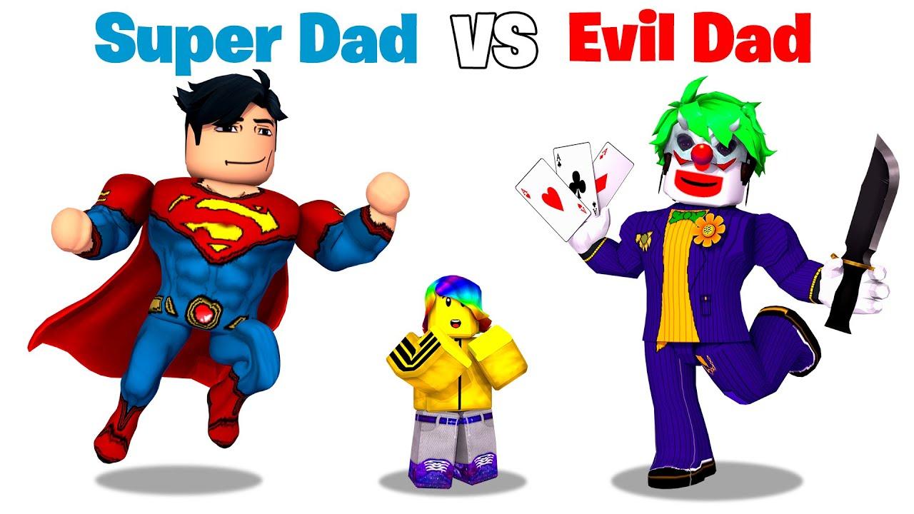 ROBLOX Super DAD vs Evil DAD 🦸♂️🦹♀️