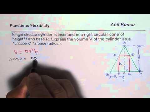 Volume of Cylinder Inscribed in Cone Formula PreCalculus