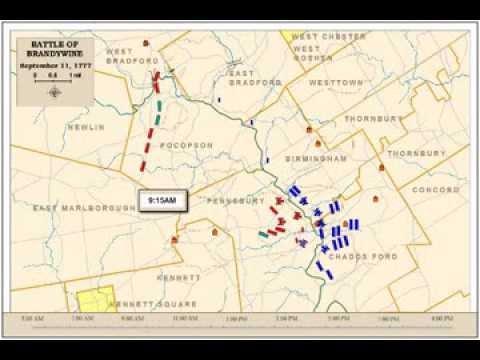 Battle Of Brandywine - Overall Battle Animated Map