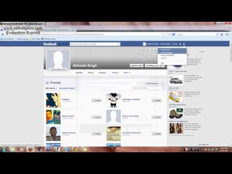 Tutorial:- How to hide Your Last Name In Facebook.(2013)