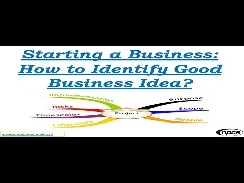 Starting a Business: How to Identify Good Business Idea?