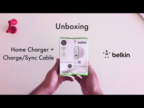 Belkin Home Charger + Charge Sync Cable Unboxing