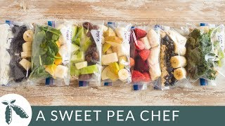 7 Smoothie Freezer Packs   How To Meal Prep   A Sweet Pea Chef