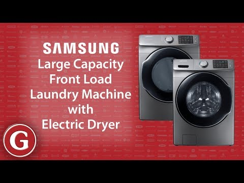 Samsung Large Capacity Front Load Washer and Electric Dryer