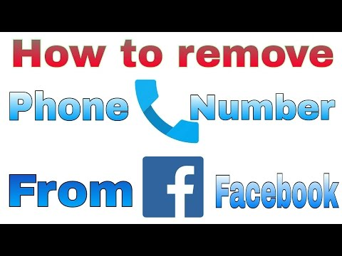 How to remove phone number from Facebook by android