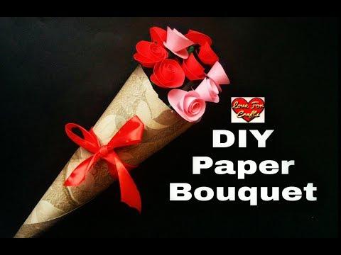 DIY Flower Bouquet | DIY Paper Roses