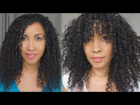How I cut my curly hair in layers for more volume at home