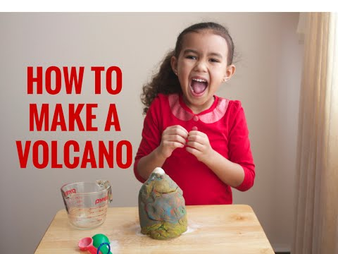 How to Make a Volcano: Watch it Erupt!