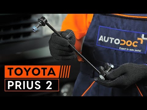 How to replace front anti roll bar link on TOYOTA PRIUS 2 [TUTORIAL AUTODOC]