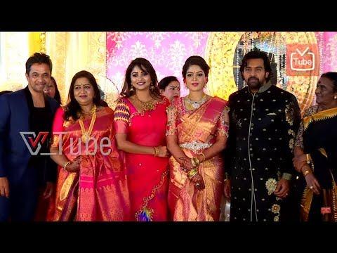 Rachita Ram At Meghana Raj & Chiranjeevi Sarja   Wedding Reception   2018