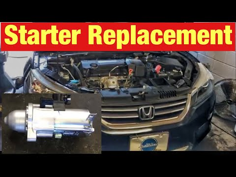 How to Replace the Starter on a 2013 Honda Accord with 2.4 L Engine